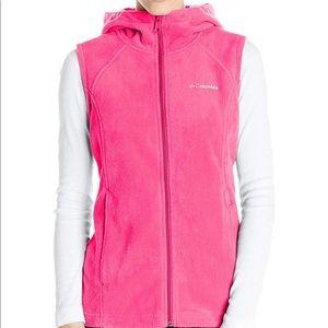 Columbia Benton Springs Hooded Pink Vest S